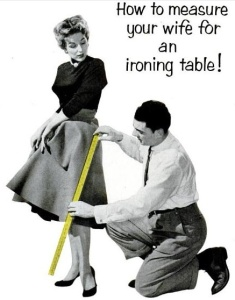 vintage ad five ironing table
