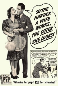vintage ad harder wife works