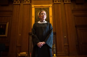 WASHINGTON, DC - AUGUST 30: Supreme Court Justice Ruth Bader Ginsburg, celebrating her 20th anniversary on the bench, is photographed in the East conference room at the U.S. Supreme Court in Washington, D.C., on Friday, August 30, 2013. (Photo by Nikki Kahn/The Washington Post via Getty Images)