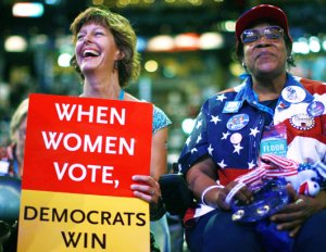 women voters-demos win